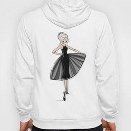 Little Black Panel Dress Hoody
