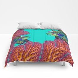 Coral Mandarins Comforters