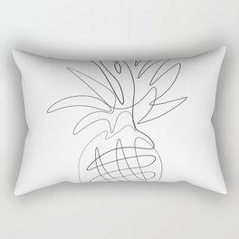 One Line Pineapple Rectangular Pillow