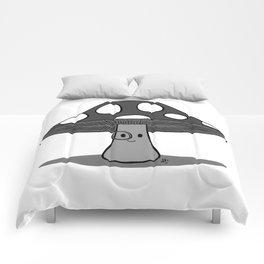 Dapper 'Shroom Monochrome Comforters