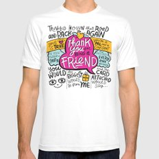 Thank You for Being a Friend MEDIUM White Mens Fitted Tee