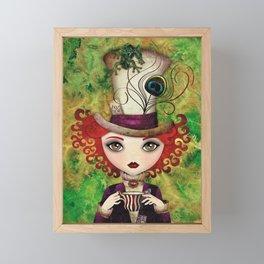 Lady Hatter Framed Mini Art Print
