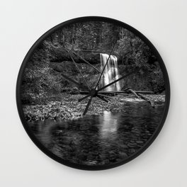 Upper North Falls bw Wall Clock