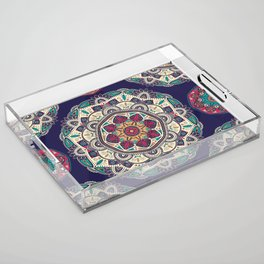 Colorful Mandala Pattern 007 Acrylic Tray