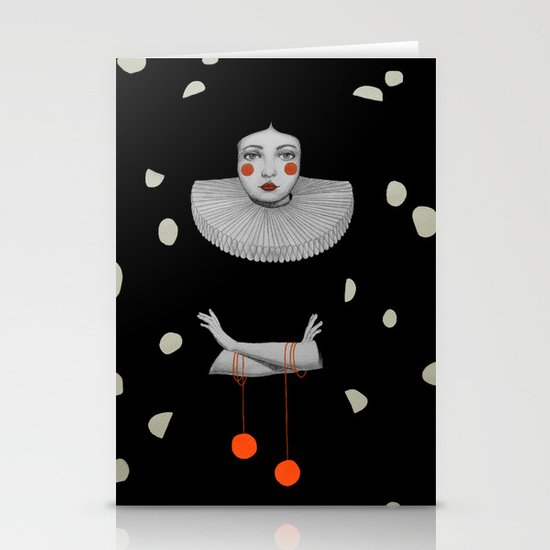 Rodinia in Black Stationery Cards