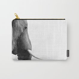 Black and white elephant portrait Carry-All Pouch