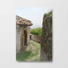 Ancient Stone Houses in Krujë, Albania Metal Print