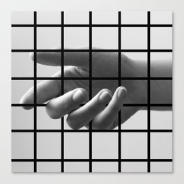 Caged Hand 3 Canvas Print