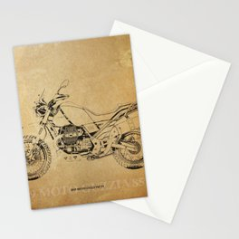 236-2019 Moto Guzzi V85 TT original artwork for bikers Stationery Cards