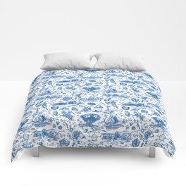 "Zelda ""Hero of Time"" Toile Pattern - Zora's Sapphire Comforters"
