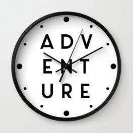 Adventure Minimalist Quote Wall Clock
