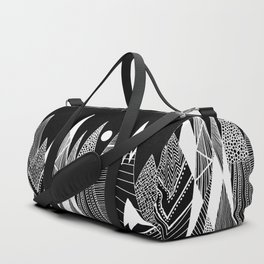 Patterns in the mountains Duffle Bag