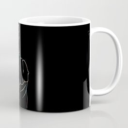 Black middle finger Coffee Mug