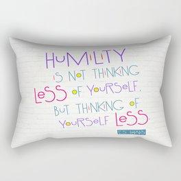 Humility Rectangular Pillow