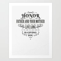 The Fifth Commandment Art Print