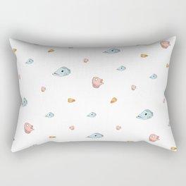 Gone Fishing, White Rectangular Pillow