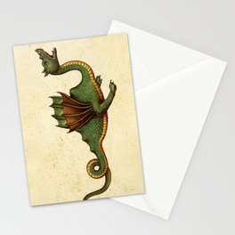 Medieval Green Dragon Stationery Cards