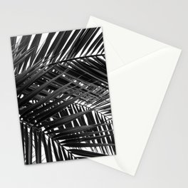 Tropical Palm Leaves - Black and White Nature Photography Stationery Cards