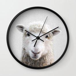 Sheep - Colorful Wall Clock
