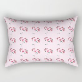 Floral Bouquet Pattern. Roses and a Peony Rectangular Pillow