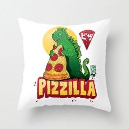 pizzilla Throw Pillow