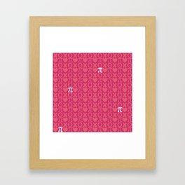 Hugs, Kisses, Love, and Pi - Pink  Framed Art Print