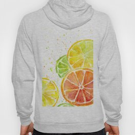 Fruit Watercolor Citrus Hoody