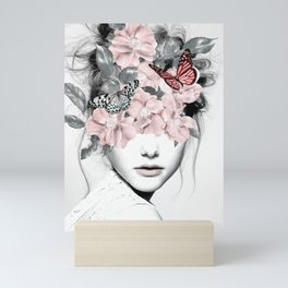 WOMAN WITH FLOWERS 10 Mini Art Print