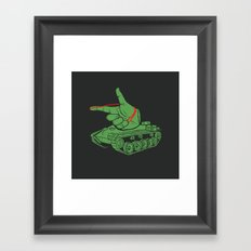 Rubber Artillery Framed Art Print