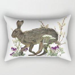 The Garden Hare Rectangular Pillow
