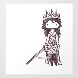 The Warrior Queen Art Print