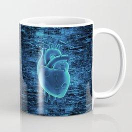 Gamer Heart BLUE TECH / 3D render of mechanical heart Coffee Mug