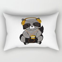 three wise raccoon music Rectangular Pillow