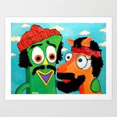 Chumby & Chokey Art Print
