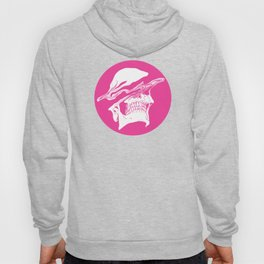 Liquify skull in hot pink Hoody