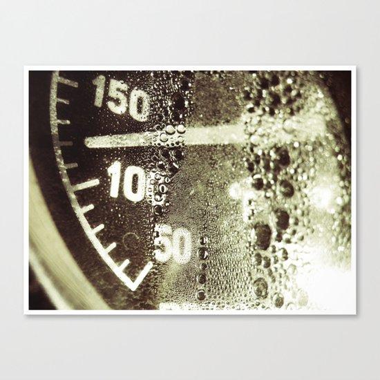 temperature gauge Canvas Print