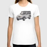 jeep T-shirts featuring Jeep Wrangler 2012 by Megan Yiu