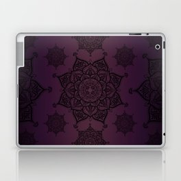 Violet & Black Mandalas Laptop & iPad Skin