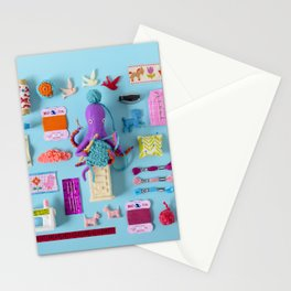 Miniature Collage: Crafting Stationery Cards