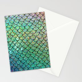 mermaid scales pattern Stationery Cards