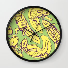 Scribbled Axolotls in Color Wall Clock