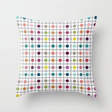 Dot Floral Throw Pillow