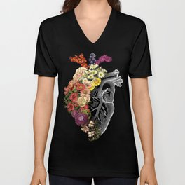 Flower Heart Spring Unisex V-Neck