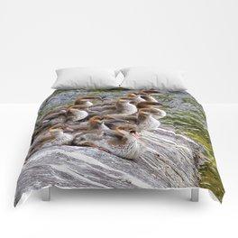 10 Little Mergansers on a Rock Comforters