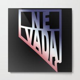 Nevada USA 4th State Pride Metal Print