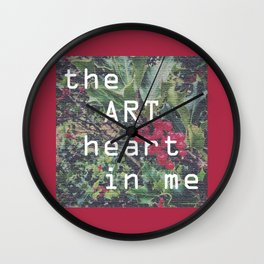 the art heart in me Wall Clock