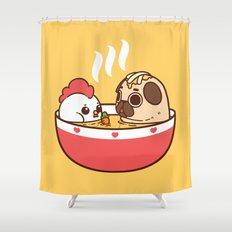Chicken Noodle Puglie Soup Shower Curtain