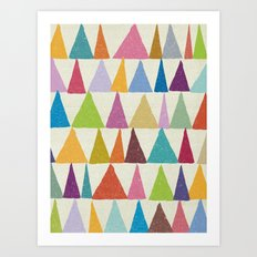 Analogous Shapes In Bloom. Art Print