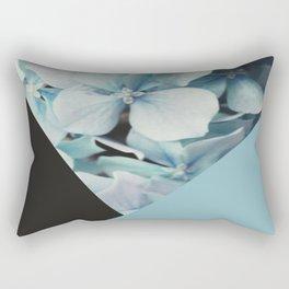 Hydrangea vs geometry Rectangular Pillow