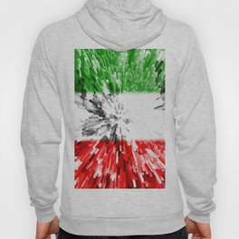 Extruded Flag of Italy Hoody